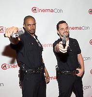 LAS VEGAS, NV - March 27: Damon Wayans Jr. and Jake Johnson pictured arriving at 20th Century Fox Presentation at Cinemacon 2014 at Caesars Palace in Las Vegas, NV on March 27, 2014. © Kabik/ Starlitepics