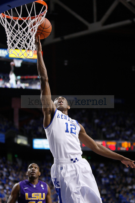 UK guard Brandon Knight lays the ball up against LSU at Rupp Arena on Saturday, Jan. 15, 2011. Photo by Scott Hannigan | Staff