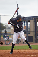 New York Yankees Anthony Garcia (43) during a Minor League Spring Training game against the Atlanta Braves on March 12, 2019 at New York Yankees Minor League Complex in Tampa, Florida.  (Mike Janes/Four Seam Images)
