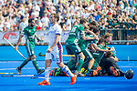 Krefeld, Germany, May 19: During the Final4 Gold Medal fieldhockey match between Uhlenhorst Muelheim and Mannheimer HC on May 19, 2019 at Gerd-Wellen Hockeyanlage in Krefeld, Germany. (worldsportpics Copyright Dirk Markgraf) *** Lucas Martin Vila #12 of Mannheimer HC