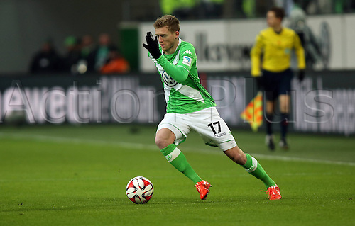 07.02.2015. Wolfsburg, Germany. Bundesliga football league match. VFL Wolfsburg versus TSG Hoffenheim at the  Volkswagen-Arena Wolfsburg. Andre Schurrle