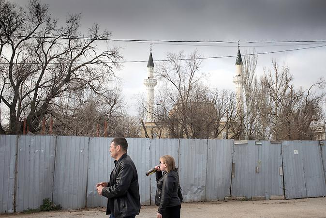 Leben der Tataren auf der Krim Ende M&auml;rz 2014 / Crimean Tatars in March 2014<br /> <br /> Distrikt 6 in Bachtschissaraj, eine Tataren-Siedlung
