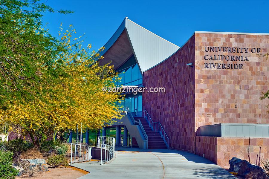 Palm Desert;  University of California Riverside, CA, Palm Desert, Building Exterior, Trees; California; Coachella Valley; Desert;