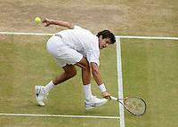 5-7-06,England, London, Wimbledon, quarter finals, Mario Ancic