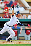 9 March 2012: Detroit Tigers outfielder Quintin Berry in action during a Spring Training game against the Philadelphia Phillies at Joker Marchant Stadium in Lakeland, Florida. The Phillies defeated the Tigers 7-5 in Grapefruit League action. Mandatory Credit: Ed Wolfstein Photo