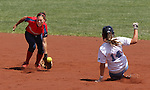 Centennial's Heather Bowen slides safely into second against Coronado's Alyssa Ayers during the state championship softball tournament at the University of Nevada, Reno, in Reno, Nev., on Saturday, May 20, 2012. .Photo by Cathleen Allison