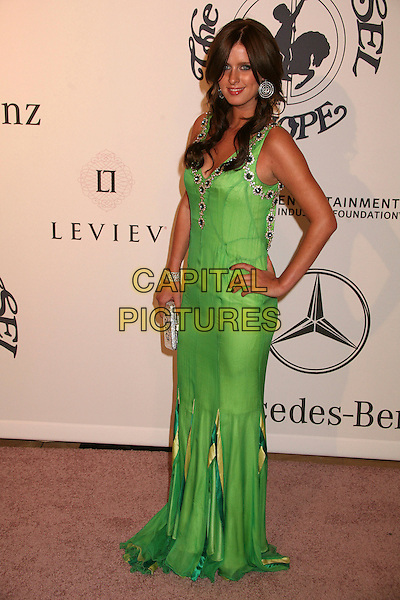 NICKY HILTON.17th Annual Carousel of Hope Ball at the Beverly Hilton Hotel, Beverly Hills, California, USA..October 28th, 2006.Ref: ADM/BP.full length green dress hand on hip Nikki Nicki .www.capitalpictures.com.sales@capitalpictures.com.©Byron Purvis/AdMedia/Capital Pictures.