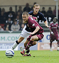 13/09/2008  Copyright Pic: James Stewart.File Name : sct_jspa19_falkirk_v_hearts.ADRIAN MROWIEC GETS AWAY FROM SCOTT ARFIELD.James Stewart Photo Agency 19 Carronlea Drive, Falkirk. FK2 8DN      Vat Reg No. 607 6932 25.James Stewart Photo Agency 19 Carronlea Drive, Falkirk. FK2 8DN      Vat Reg No. 607 6932 25.Studio      : +44 (0)1324 611191 .Mobile      : +44 (0)7721 416997.E-mail  :  jim@jspa.co.uk.If you require further information then contact Jim Stewart on any of the numbers above........