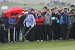 Rory McElroy hits out from the crowd, day 1 of the Irish Open in Co.Louth Golf Club,  Baltray...Photo NEWSFILE/Jenny Matthews.(Photo credit should read Jenny Matthews/NEWSFILE)....This Picture has been sent you under the condtions enclosed by:.Newsfile Ltd..The Studio,.Millmount Abbey,.Drogheda,.Co Meath..Ireland..Tel: +353(0)41-9871240.Fax: +353(0)41-9871260.GSM: +353(0)86-2500958.email: pictures@newsfile.ie.www.newsfile.ie.FTP: 193.120.102.198.