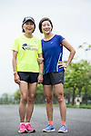 2014 Taiwan Female Champion Sally Wang (right) and her mother pose for a photograph during the Wings for Life World Run on 08 May, 2016 in Yilan, Taiwan. Photo by Victor Fraile / Power Sport Images