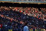 Atletico de Madrid´s supporters during 2014-15 La Liga match at Vicente Calderon stadium in Madrid, Spain. January 03, 2015. (ALTERPHOTOS/Victor Blanco)