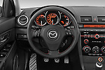 Straight dashboard view of a 2008 Mazda Speed 3.