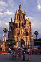 The Parroquia de San Miguel Arcangel or parish church in San Miguel de Allende, Guanajuato state, Mexico