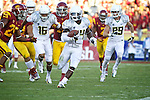 Oregon Ducks running back Kenjon Barner heads upfield against the USC Trojans in the first half..Photo by Jaime Valdez