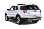 Car pictures of rear three quarter view of 2017 Ford Explorer Limited 5 Door SUV Angular Rear
