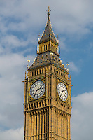 UK, England, London.  Big Ben Clock Tower, Elizabeth Tower.