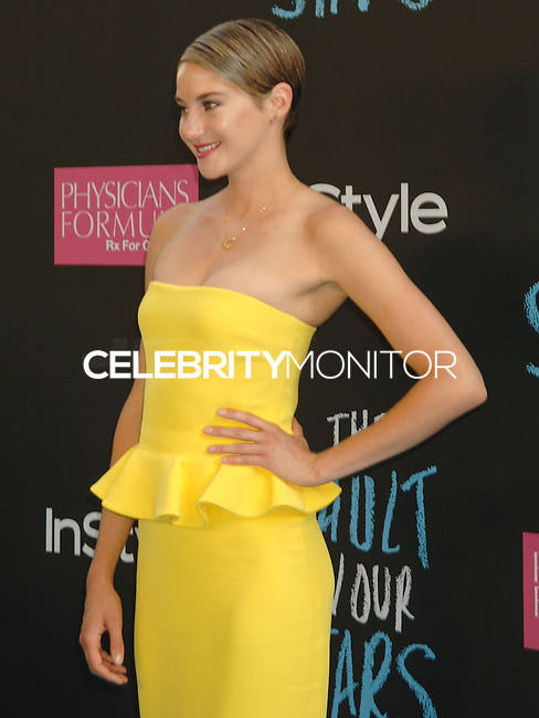 NEW YORK CITY, NY, USA - JUNE 02: Shailene Woodley at the New York Premiere Of 'The Fault In Our Stars' held at Ziegfeld Theatre on June 2, 2014 in New York City, New York, United States. (Photo by Celebrity Monitor)