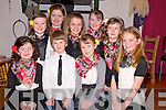 Pictured at the Beaufort Rambling House in the Community Centre on Saturday night were Emily Coleman, Ian Coleman Horgan, Grainne Clifford, Cora Coffey, Nicola English, Ciara O'Sullivan, Meabh Coleman Horgan, Sinead Coffey and Saoirse Clifford, Cullina National School set dancing group.....................