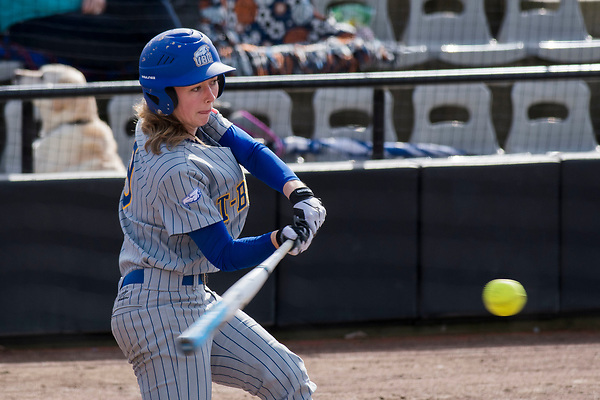 APRIL 1, 2017 -- NAIA Cascade Collegiate Conference softball action between the UBC Thunderbirds and the Great Falls (Mont.) Argos at Softball City in Surrey, British Columbia, Canada. ****(Photo by Wilson Wong 2017 All Rights Reserved****)