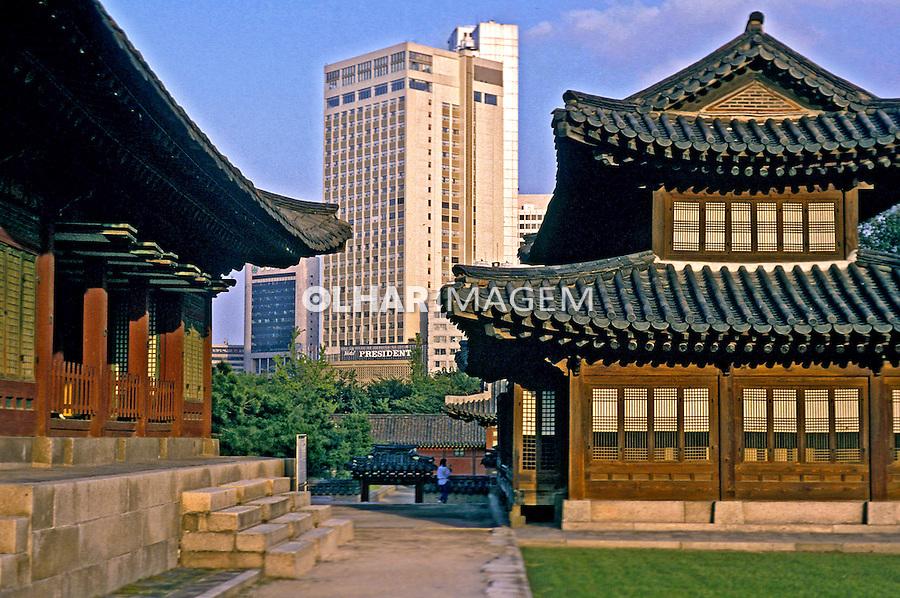Templo budista em Seul, Coréia do Sul. 1999. Foto de Ricardo Azoury.