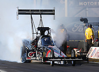 Feb. 22, 2013; Chandler, AZ, USA; NHRA top fuel dragster driver Larry Dixon during qualifying for the Arizona Nationals at Firebird International Raceway. Mandatory Credit: Mark J. Rebilas-
