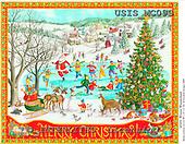 Ingrid, CHRISTMAS SYMBOLS, WEIHNACHTEN SYMBOLE, NAVIDAD SÍMBOLOS, paintings+++++,USISMC09S,#XX# vintage