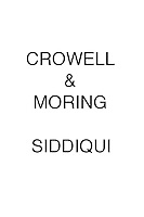 Crowell & Moring Siddiqui