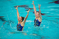 Picture by Allan McKenzie/SWpix.com - 25/11/2017 - Swimming - Swim England Synchronised Swimming National Age Group Championships 2017 - GL1 Leisure Centre, Gloucester, England - Alexander Tyrell & Harriette Smith.