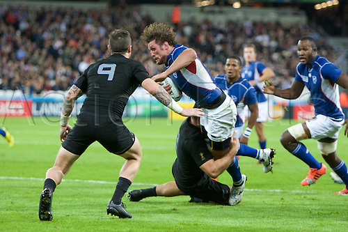 24.09.2015. Olympic Stadium, London, England. Rugby World Cup. New Zealand versus Namibia. Namibia flanker Tinus du Plessis.