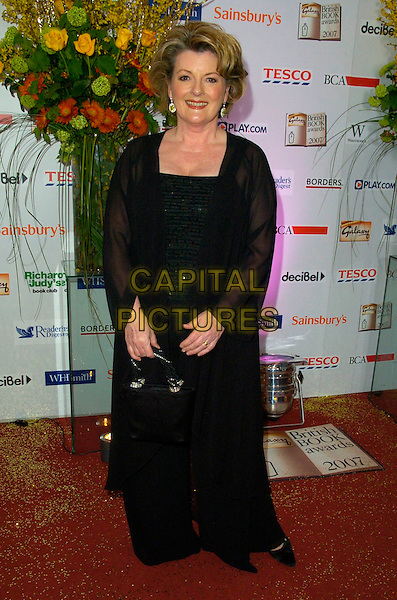 BRENDA BLETHYN .The Galaxy British Book Awards, Grosvenor House Hotel, London, England..March 28th, 2007.full length black dress sheer sleeves bag purse.CAP/CAN.©Can Nguyen/Capital Pictures
