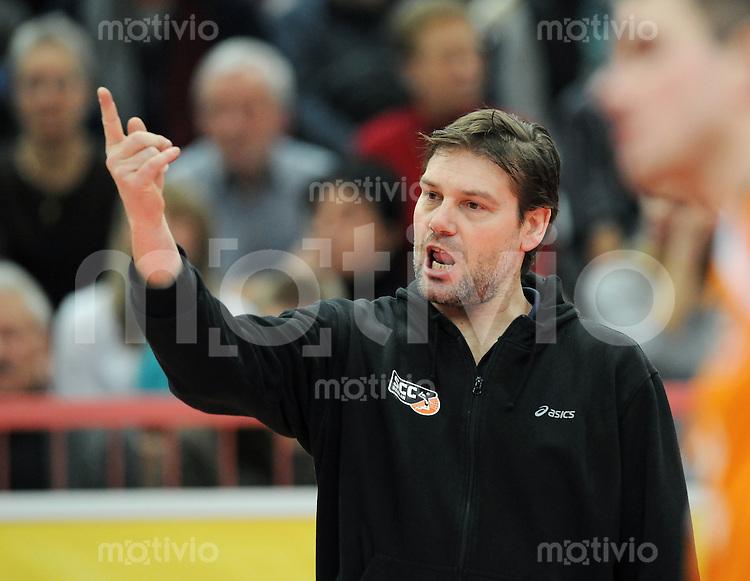Volleyball  1. Bundesliga   2009/2010  20.01.2010 ENBW TV Rottenburg - SSC Berlin SSC Berlin Trainer Andrei Urnaut