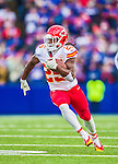 9 November 2014: Kansas City Chiefs running back Jamaal Charles runs for short yardage in the third quarter against the Buffalo Bills at Ralph Wilson Stadium in Orchard Park, NY. The Chiefs rallied with two fourth quarter touchdowns to defeat the Bills 17-13. Mandatory Credit: Ed Wolfstein Photo *** RAW (NEF) Image File Available ***