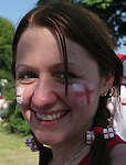 10 June 2006: An England fan. England played Paraguay at Commerzbank Arena in Frankfurt, Germany in match 3, a Group B first round game, of the 2006 FIFA World Cup.