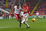 Sheffield United's Billy Sharp strikes at goal past Coventry's Ben Turner - Sheffield United vs Coventry City - SkyBet League One - Bramall Lane - Sheffield - 13/12/2015 Pic Philip Oldham/SportImage