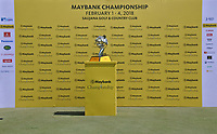 The stage is all set for the award ceremony of the Maybank Championship at the Saujana Golf and Country Club in Kuala Lumpur on Saturday 4th February 2018.<br /> Picture:  Thos Caffrey / www.golffile.ie<br /> <br /> All photo usage must carry mandatory copyright credit (&copy; Golffile | Thos Caffrey)