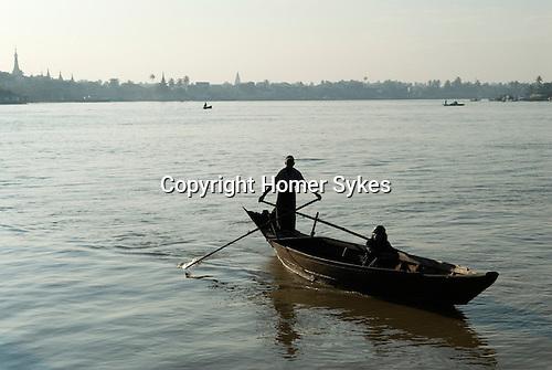 Pathein Burma Myanmar. Crossing the Pathein River, western edge of the Ayeyarwady Irrawaddy delta.  2011