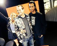 Jennifer Blanc-Biehn, Michael Biehn, Aaron Kai<br /> at Blanc-Biehn Productions on Dread Central Live, The Stream.tv Studios, Los Angeles, CA 03-03-14<br /> David Edwards/DailyCeleb.com 818-249-4998