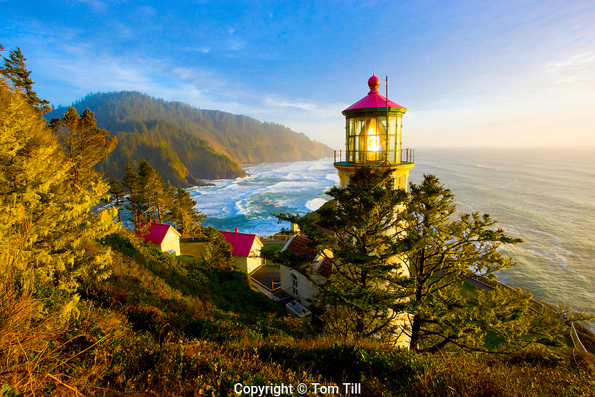 Heceta Head Lighthouse, Heceta Head, Pacific Ocean, Oregon