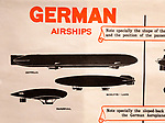 Identification poster for German army military airships of the First World War, Radstock museum, Somerset, England, UK