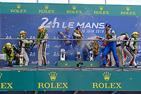 #36 SIGNATECH ALPINE MATMUT (FRA) ALPINE A470 GIBSON LMP2 NICOLAS LAPIERRE (FRA) ANDRE NEGRAO (BRA) PIERRE THIRIET (FRA) WINNER LMP2<br /> <br /> #38 JACKIE CHAN DC RACING (CHN) ORECA 07 GIBSON LMP2 HO PIN TUNG (NLD) GABRIEL AUBRY (FRA) STEPHANE RICHELMI (MCO) SECOND LMP2<br /> <br /> #28 TDS RACING (FRA) ORECA 07 GIBSON LMP2 FRANÇOIS PERRODO (FRA) MATTHIEU VAXIVIERE (FRA) LOIC DUVAL (FRA) THIRD LMP2