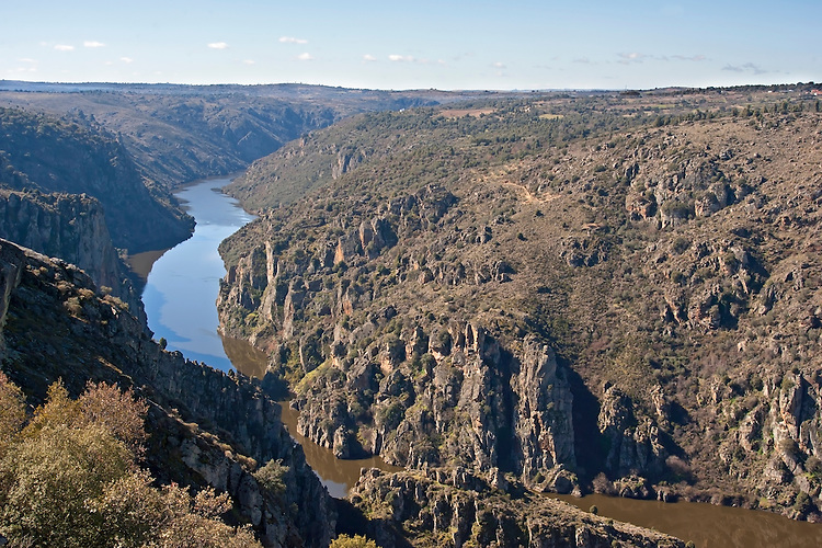 Rio Duero or Doro with accompanying canyon separating Spain from Portugal
