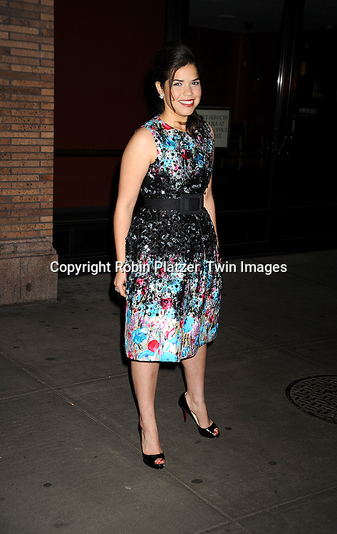 America Ferrera in Oscar de la Renta dress..at The Glamour 2008 Women of The Year Awards on ..November 10, 2008 at Carnegie Hall in New York City. ....Robin Platzer, Twin Images