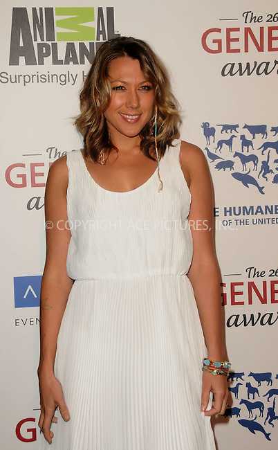 WWW.ACEPIXS.COM . . . . .  ....March 24 2012, LA....Colbie Caillat arriving at the 26th Annual Genesis Awards at The Beverly Hilton Hotel on March 24, 2012 in Beverly Hills, California. ....Please byline: PETER WEST - ACE PICTURES.... *** ***..Ace Pictures, Inc:  ..Philip Vaughan (212) 243-8787 or (646) 769 0430..e-mail: info@acepixs.com..web: http://www.acepixs.com