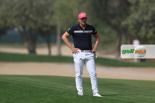 Matt Wallace (ENG) on the 3rd fairway during Round 2 of the Omega Dubai Desert Classic, Emirates Golf Club, Dubai,  United Arab Emirates. 25/01/2019<br /> Picture: Golffile | Thos Caffrey<br /> <br /> <br /> All photo usage must carry mandatory copyright credit (&copy; Golffile | Thos Caffrey)