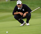 17.10.2014. The London Golf Club, Ash, England. The Volvo World Match Play Golf Championship.  Day 3 group stage matches.  Alexander Levy [FRA].