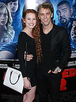 "LOS ANGELES, CA, USA - APRIL 16: Madelaine Petsch and Aaron Carter arrive at the Los Angeles Premiere Of Open Road Films' ""A Haunted House 2"" held at Regal Cinemas L.A. Live on April 16, 2014 in Los Angeles, California, United States. (Photo by Xavier Collin/Celebrity Monitor)"