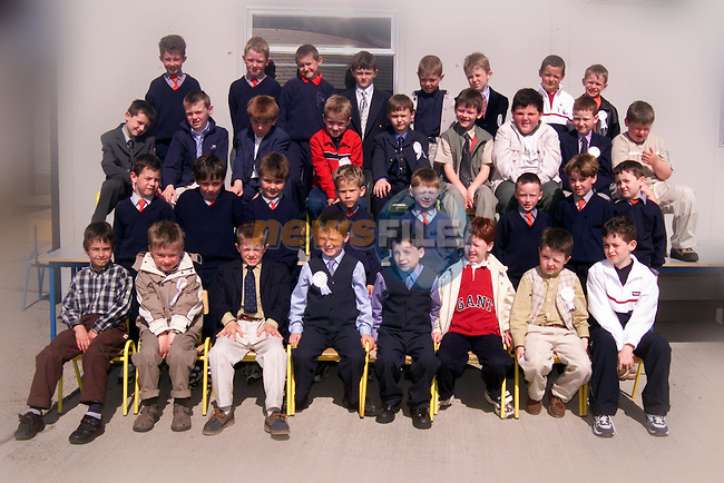 1st class Donacarney Boys School who made thier First Holy Communion on Saturday..Picture: Paul Mohan/Newsfile