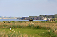 A view of the cliffs from the 15th tee during the Afternoon Singles between Ireland and Wales at the Home Internationals at Royal Portrush Golf Club on Thursday 13th August 2015.<br /> Picture:  Thos Caffrey / www.golffile.ie