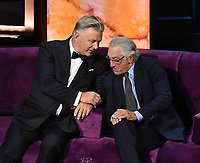 """BEVERLY HILLS - SEPTEMBER 7: Alec Baldwin and Robert De Niro appear onstage at the """"Comedy Central Roast of Alec Baldwin"""" at the Saban Theatre on September 7, 2019 in Beverly Hills, California. (Photo by Frank Micelotta/PictureGroup)"""