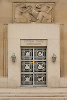 Art deco door and mural of Federal Trade Commission building, Washington, DC